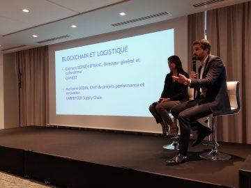 Clément Bergé-Lefranc et Marianne Bodin à la table ronde blockchain