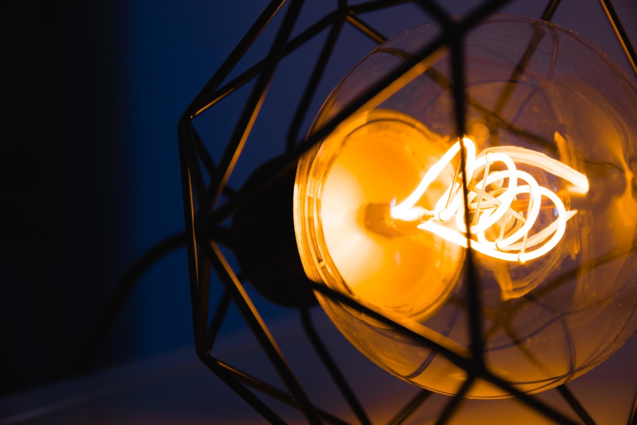 Metal geometric pendant lamp