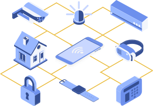 Illustration d'un réseau d'IOT