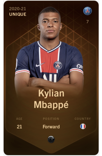 nft-card-collectible-sorare-mbappe