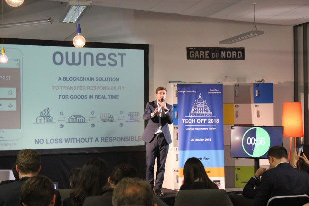 Clément Bergé-Lefranc presents the Ownest concept at the TechOff competition